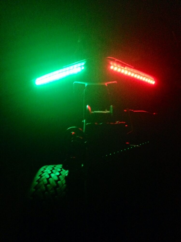 Bow led 1 foot waterproof red green navigation light for Fishing boat lights
