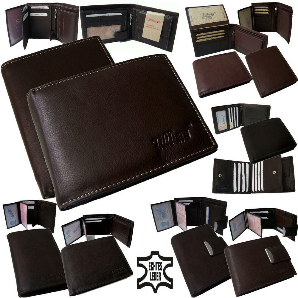 portemonnaie echt leder herren geldb rse brieftasche geldbeutel m nner neu pv18 ebay. Black Bedroom Furniture Sets. Home Design Ideas