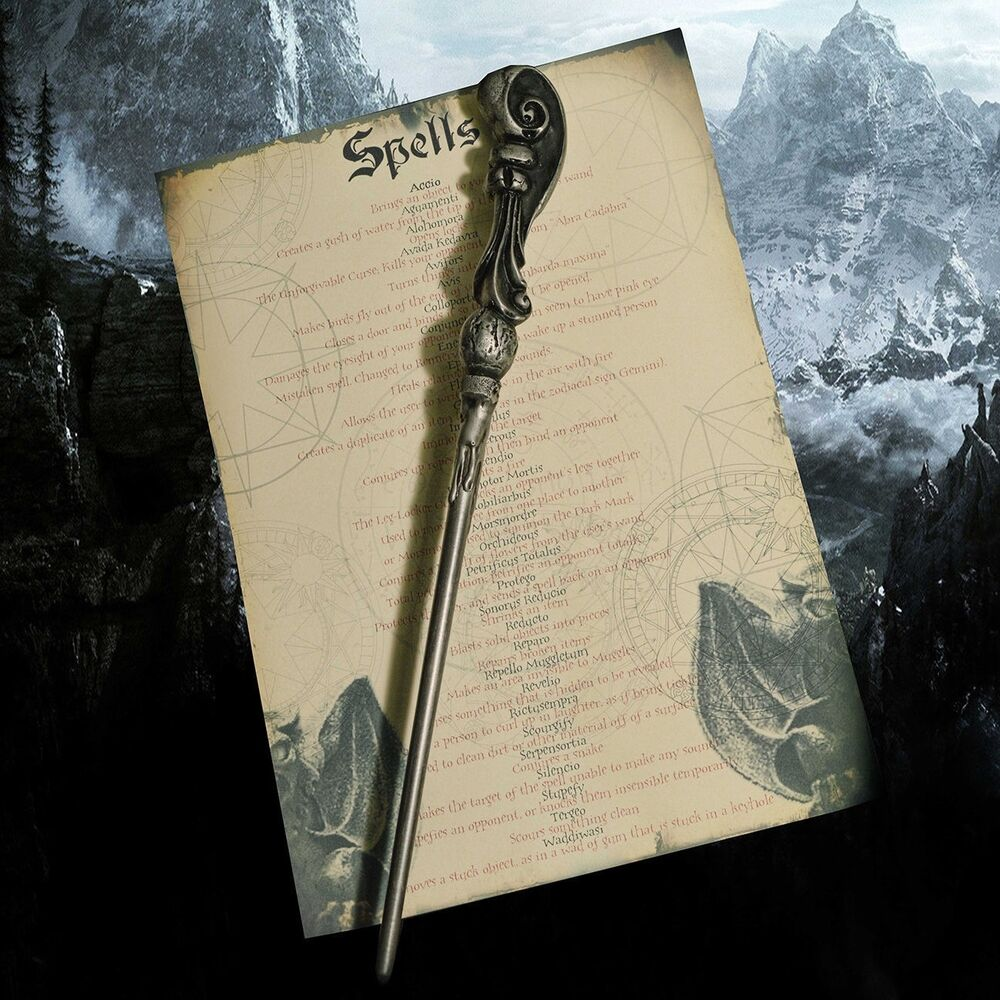 Fleur delacour wand with spell list great for harry potter for Elder wand spells