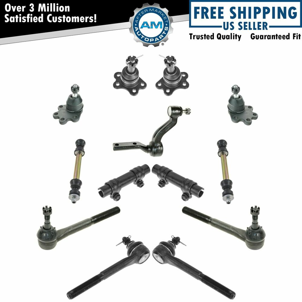 front suspension ball joints tie rods set of 13 for 88