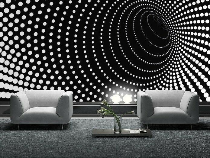 Giant Wall Mural Photo Wallpaper Illusion Twisted Dots