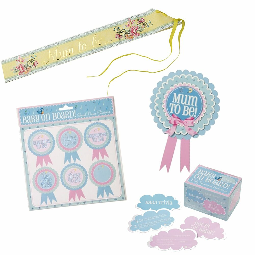 Baby Showers Gifts For Guests: Baby Shower Christening Party Accessories, Gifts, Games