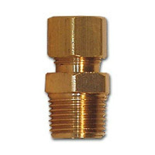 Inch compression male mpt connector adapter brass