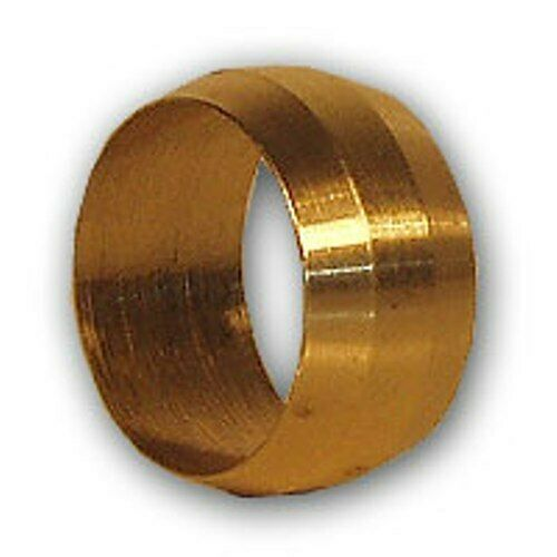 Inch od brass compression sleeve pipe fitting