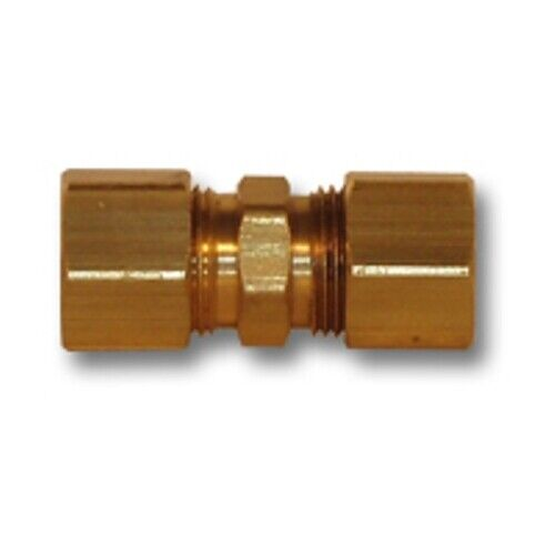 Inch od brass compression union coupling soft copper