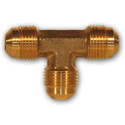 Pcs inch flare tee brass pipe fitting npt soft copper