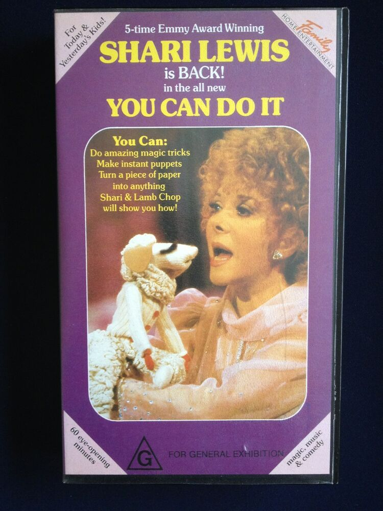 Where Can I Sell My Vhs Tapes >> SHARI LEWIS ~ YOU CAN DO IT with LAMB CHOP ~ RARE ~ AS NEW ...