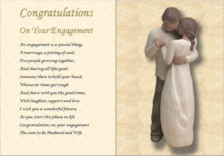 Congratulations On Your Engagement Personalised Poem