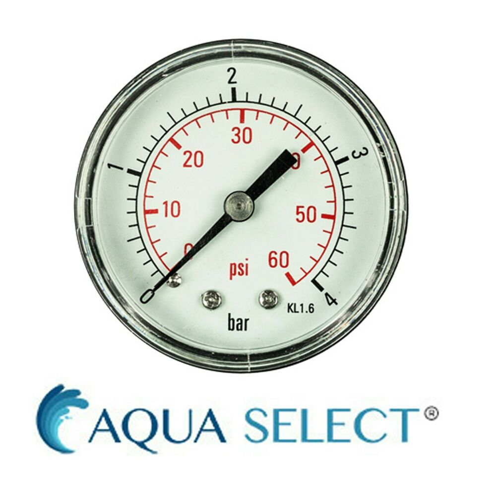 Swimming pool above ground in ground pressure gauge back - Swimming pool filter pressure gauge ...