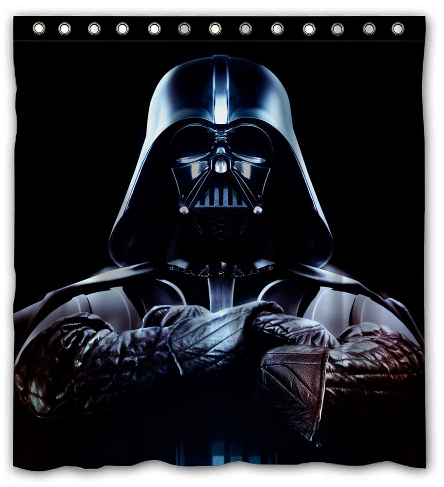 Star wars darth vader force unleashed shower curtain bathroom 60 quot x 72