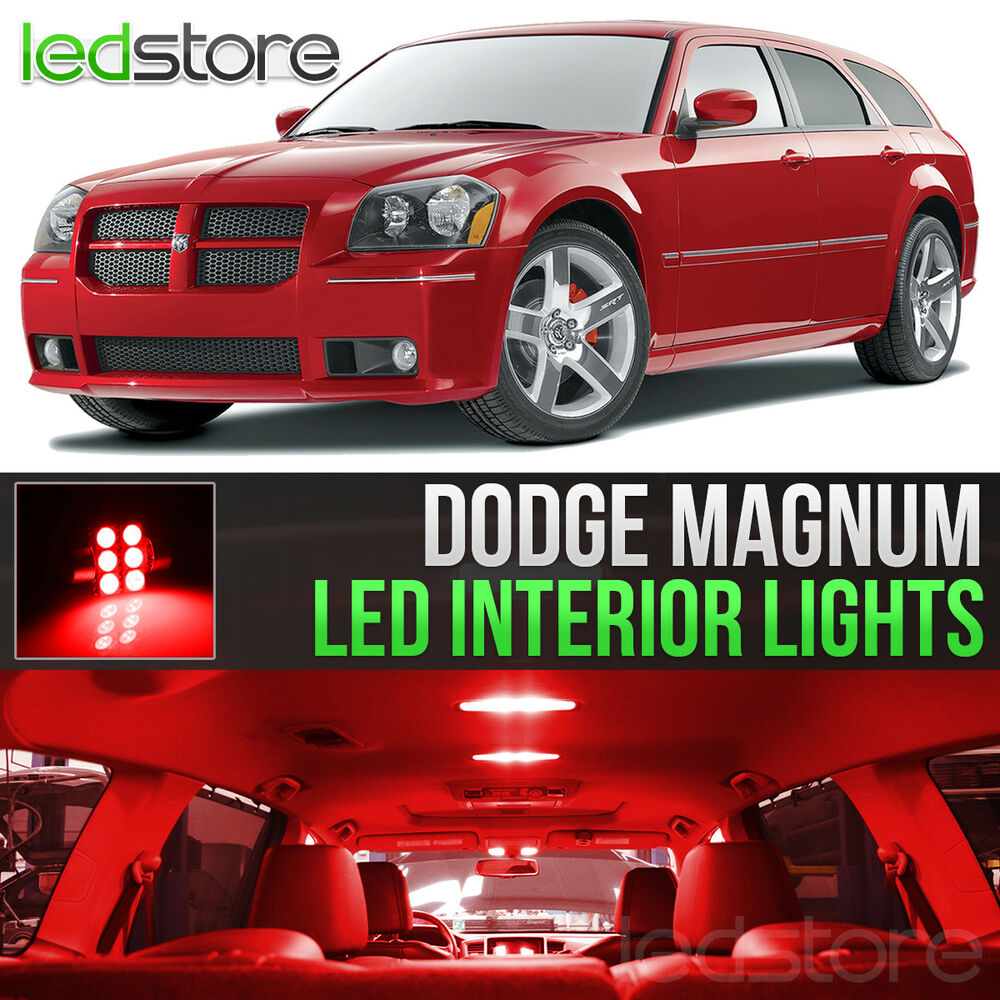 2005 2008 dodge magnum red led lights interior kit ebay - Dodge magnum interior accessories ...