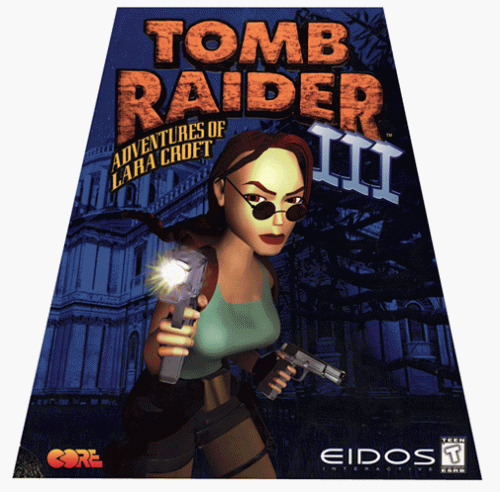 tomb raider 3 iii pc new sealed in trapezoid box rare 5032921004473 ebay. Black Bedroom Furniture Sets. Home Design Ideas