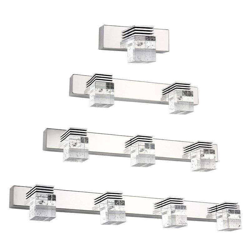 crystal led bathroom wall lighting mirror front cabinet wall sconces