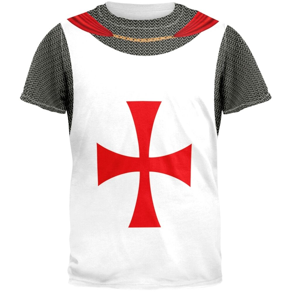 Knights templar costume all over adult t shirt ebay for Costume t shirts online