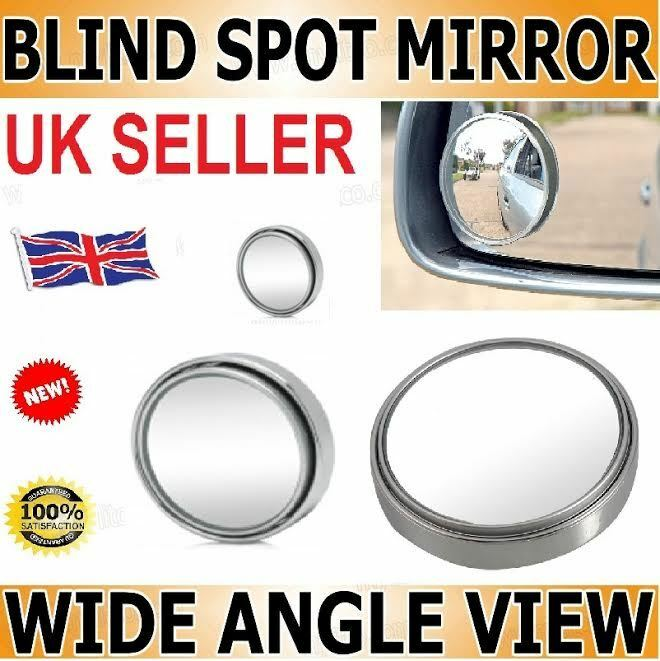 2x Convex Blind Spot Mirror Towing Reversing Driving Self