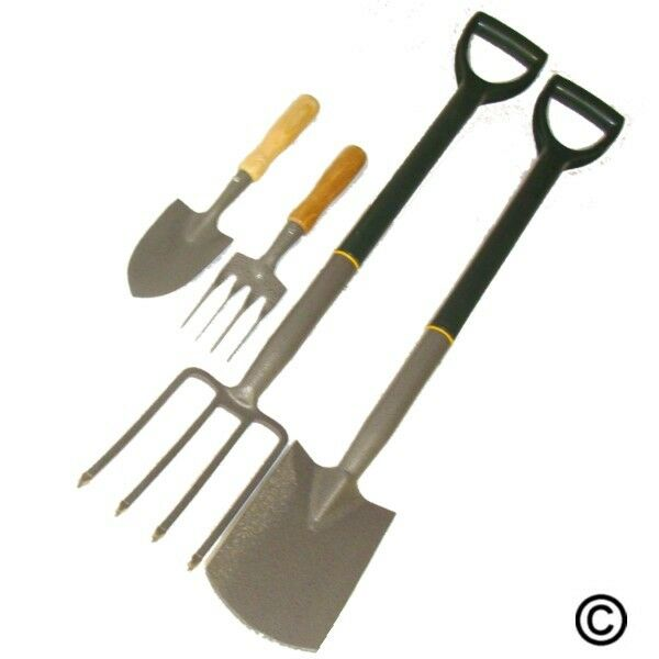 Ladies garden border fork spade carbon steel new inc for Ladies garden trowel set