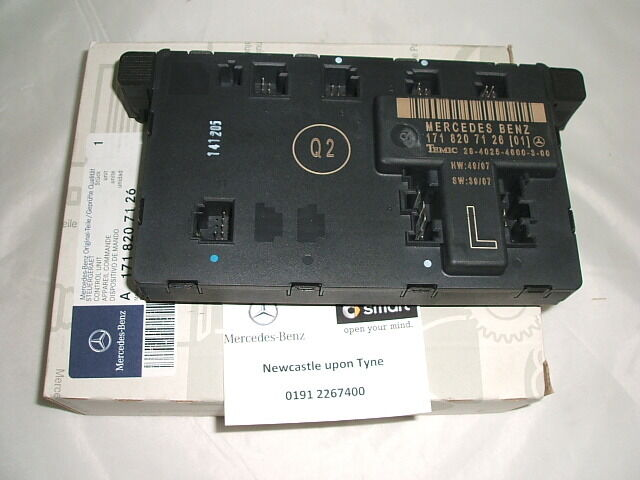 Genuine mercedes benz r171 slk left door control module for 01333 door control module
