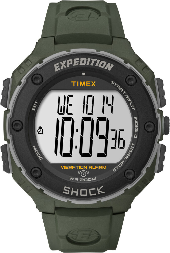Timex expedition t49951 digital watch indiglo night light 200m shock resist ebay for Expedition watches