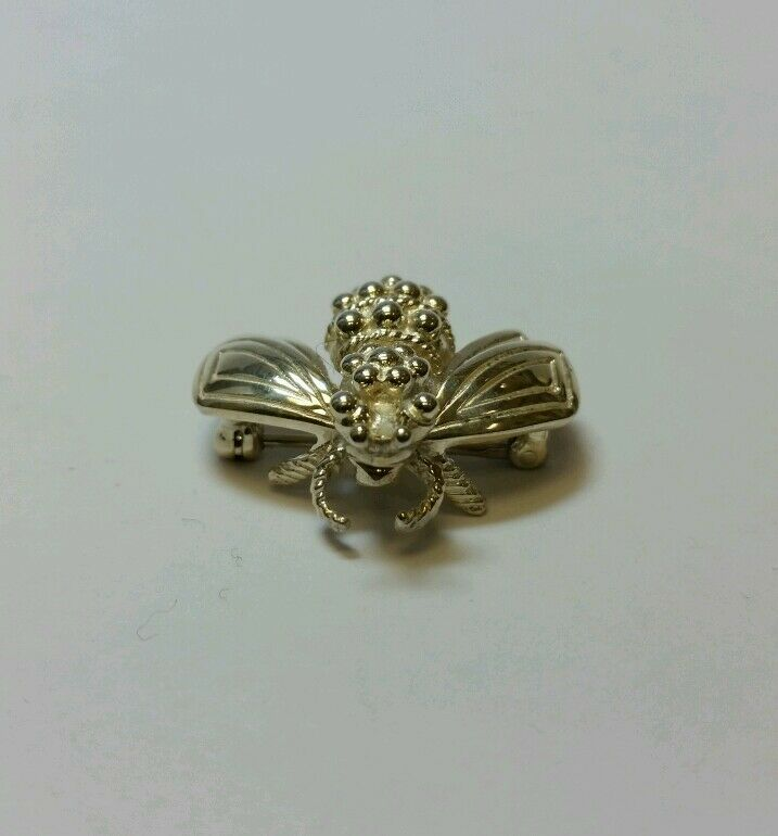 TIFFANY & CO STERLING SILVER BUMBLE BEE PIN BROOCH