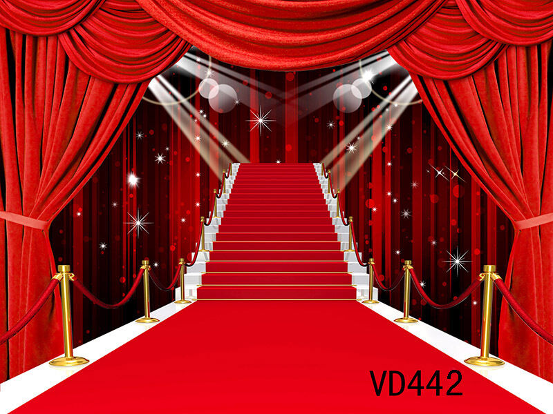 Thin Vinyl Photography Backdrop RED CARPET Background
