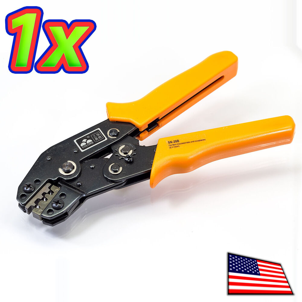 sn 28b crimp plier tool 18 26 awg crimper 3 sizes dupont jst molex ebay. Black Bedroom Furniture Sets. Home Design Ideas