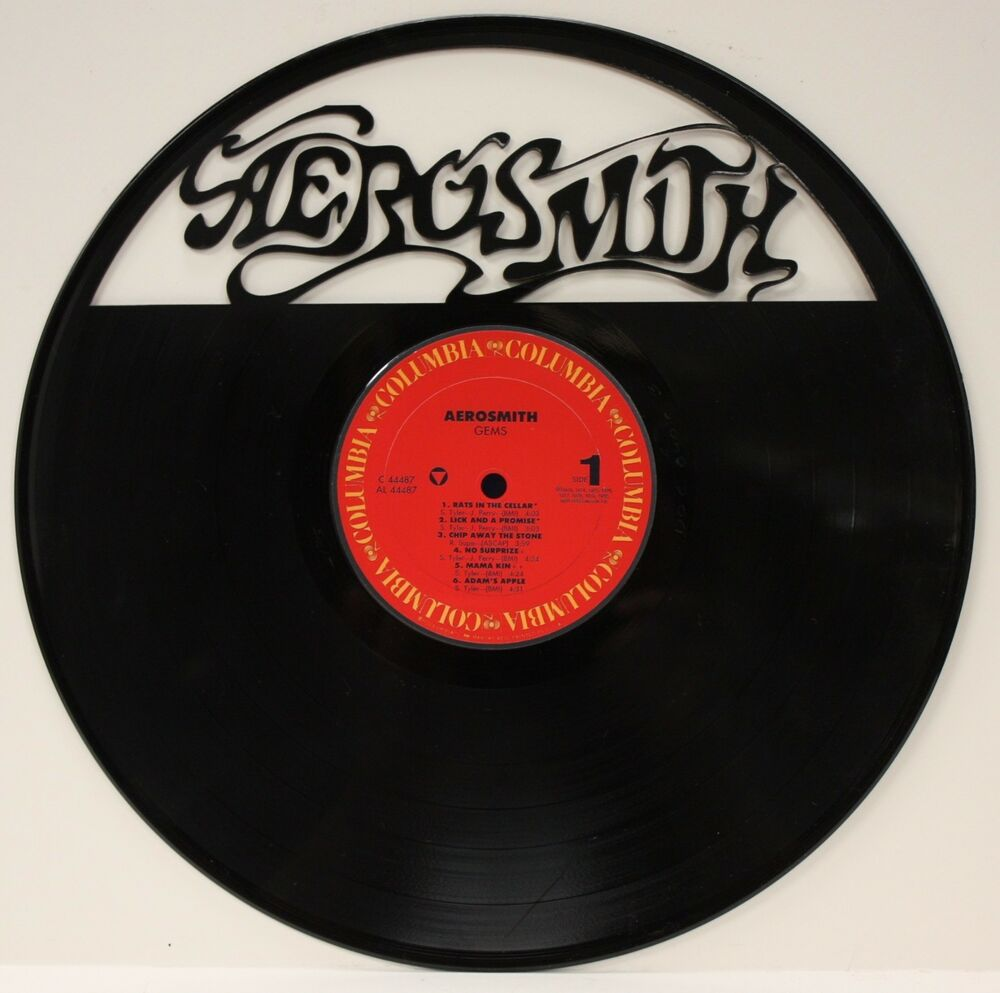 Aerosmith laser cut black vinyl lp record limited edition for Vinyl record wall art