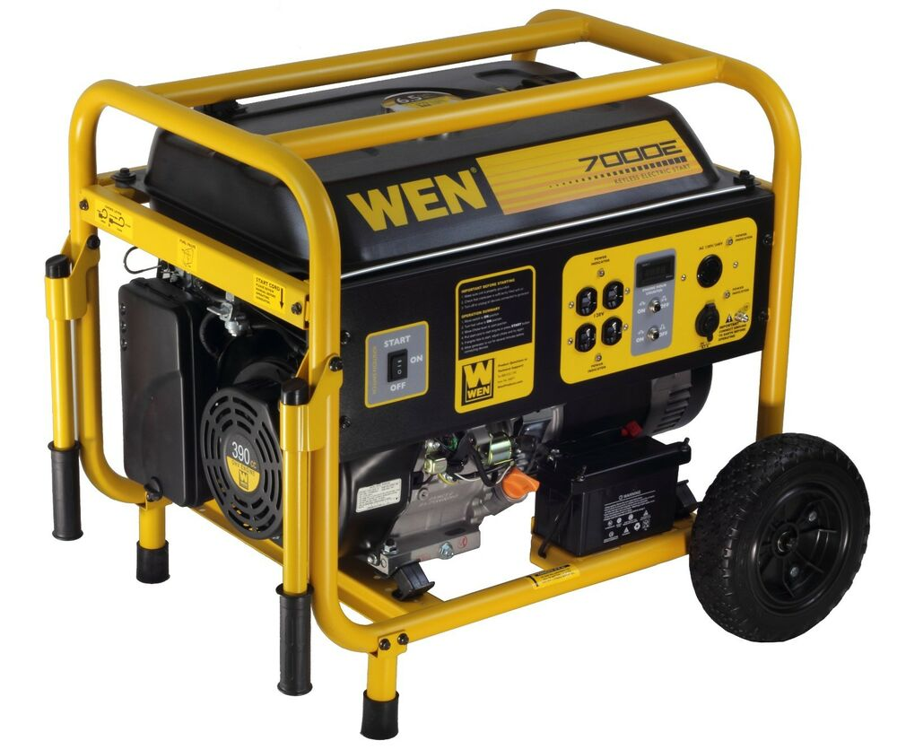 Wen 56682 7000 watt 390cc 13 hp ohv gas powered portable generator ebay - Choosing a gasoline powered generator ...