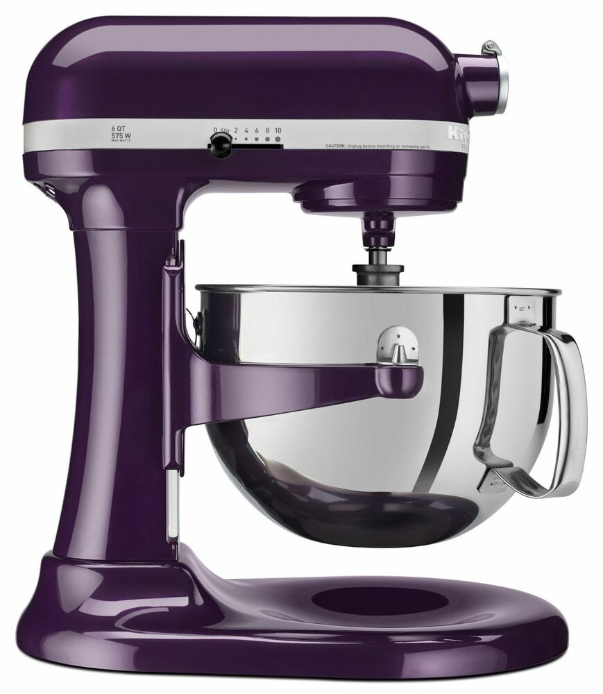 New Kitchenaid Pro 600 Big 6 Quart Stand Mixer Plum Berry