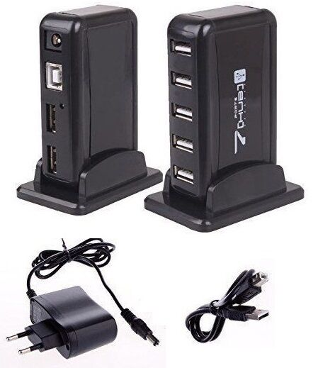 usb 2 0 hub 7 port usb 2 0 7 fach anschluss usb 2 0 mehrfachstecker ebay. Black Bedroom Furniture Sets. Home Design Ideas
