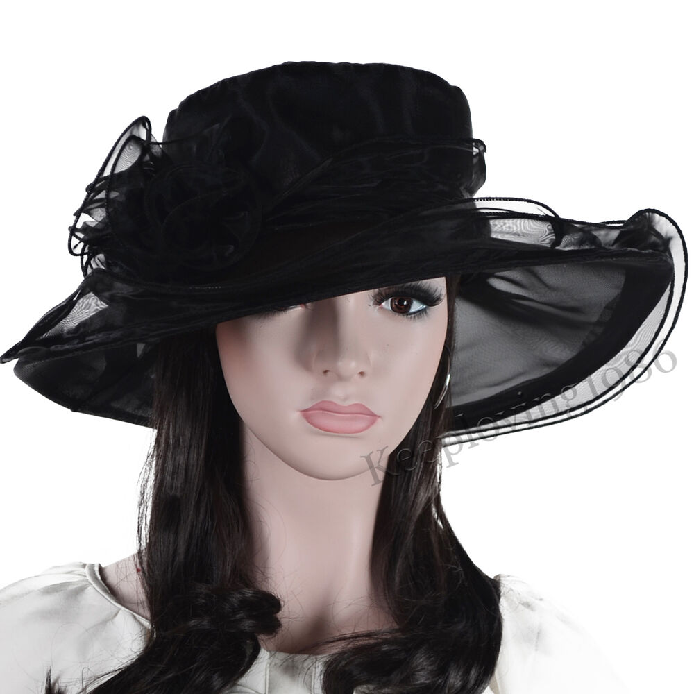 Lady kentucky derby church party dress hat bridal shower for Dress hats for weddings