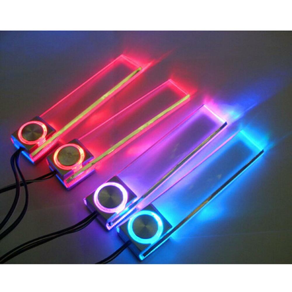 led car interior decorative floor light lamp auto cigarette lighter colors light ebay. Black Bedroom Furniture Sets. Home Design Ideas