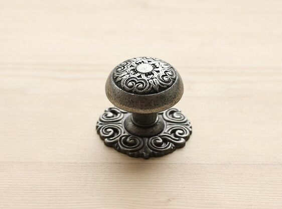 Antique Pewter Furniture Door Drawer Pulls Kitchen Cabinet Handle Knob 001S