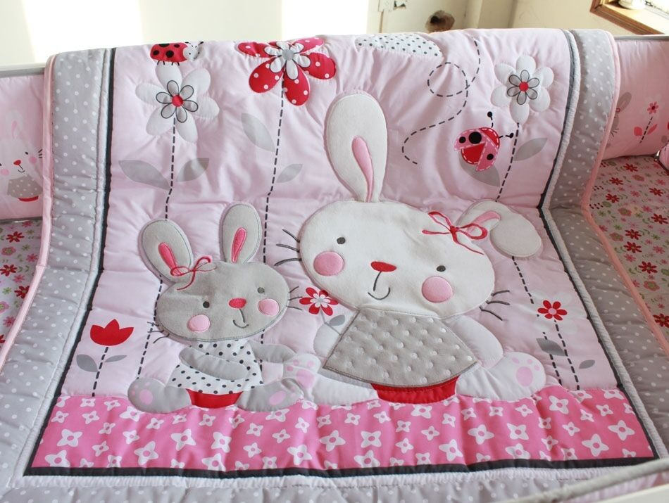 New High Quality Baby Girl Boy Crib Cot Embroidered