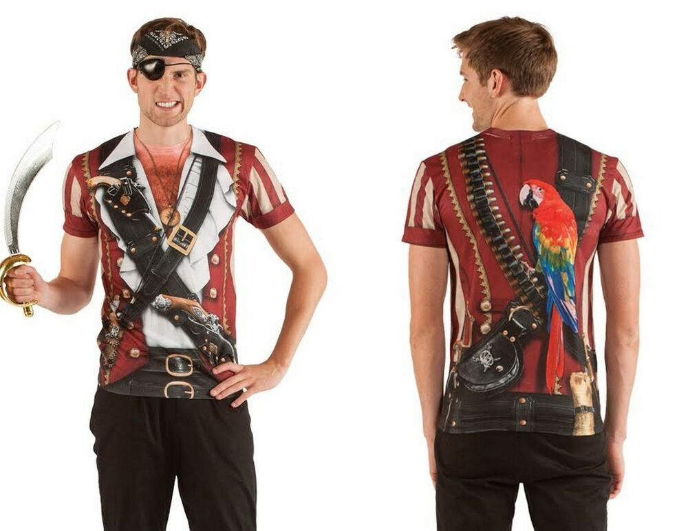 Faux real sublimation swashbuckler pirate costume outfit t for Costume t shirts online