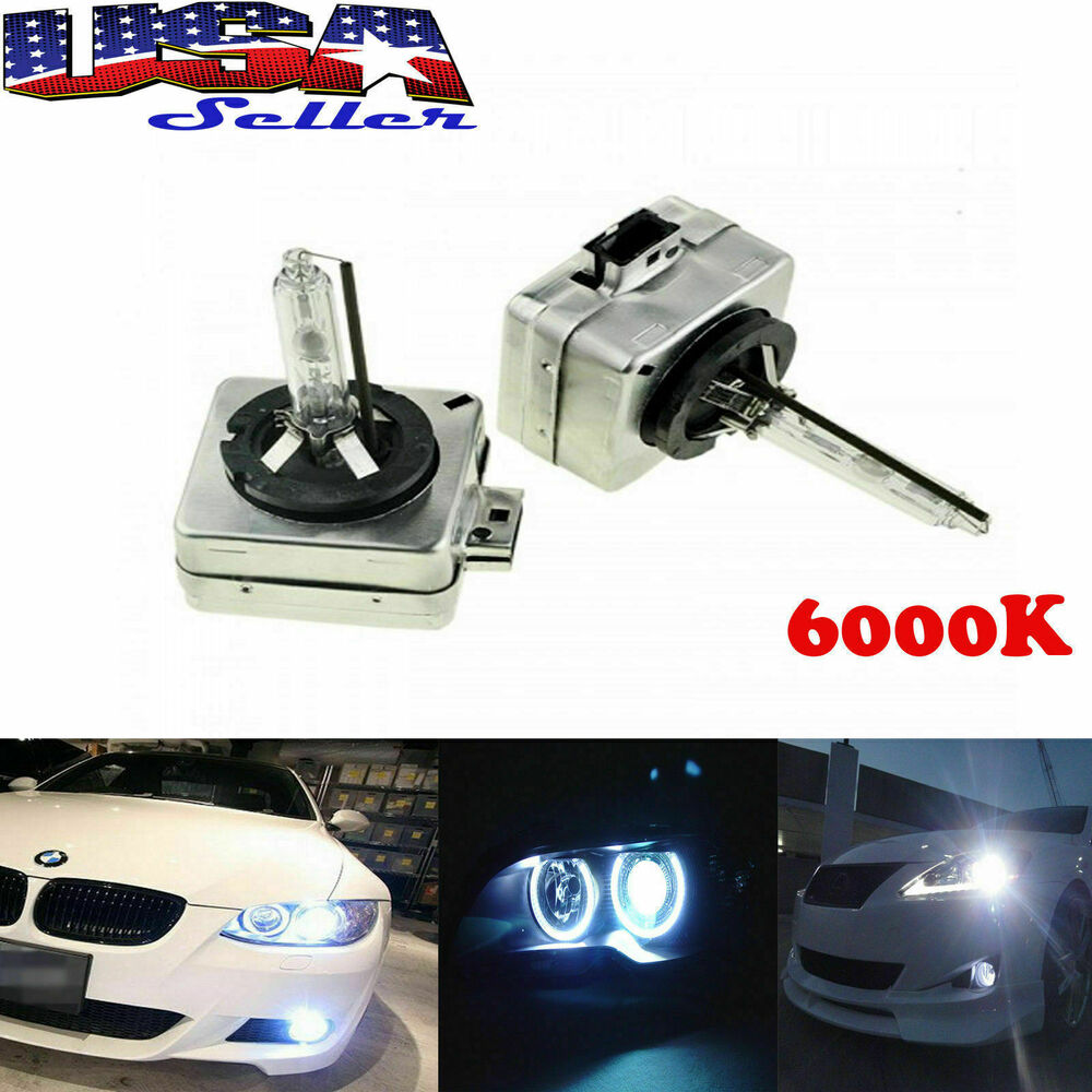 2 new d1s 6000k oem hid xenon headlight replacement light. Black Bedroom Furniture Sets. Home Design Ideas