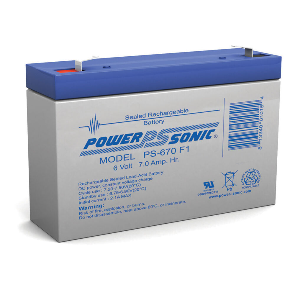 power sonic 6 volt 7 0 ah rechargeable battery ebay. Black Bedroom Furniture Sets. Home Design Ideas