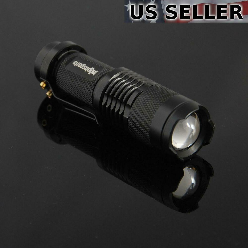 (2-pack) Mini 7W 300LM LED Flashlight Torch Adjustable