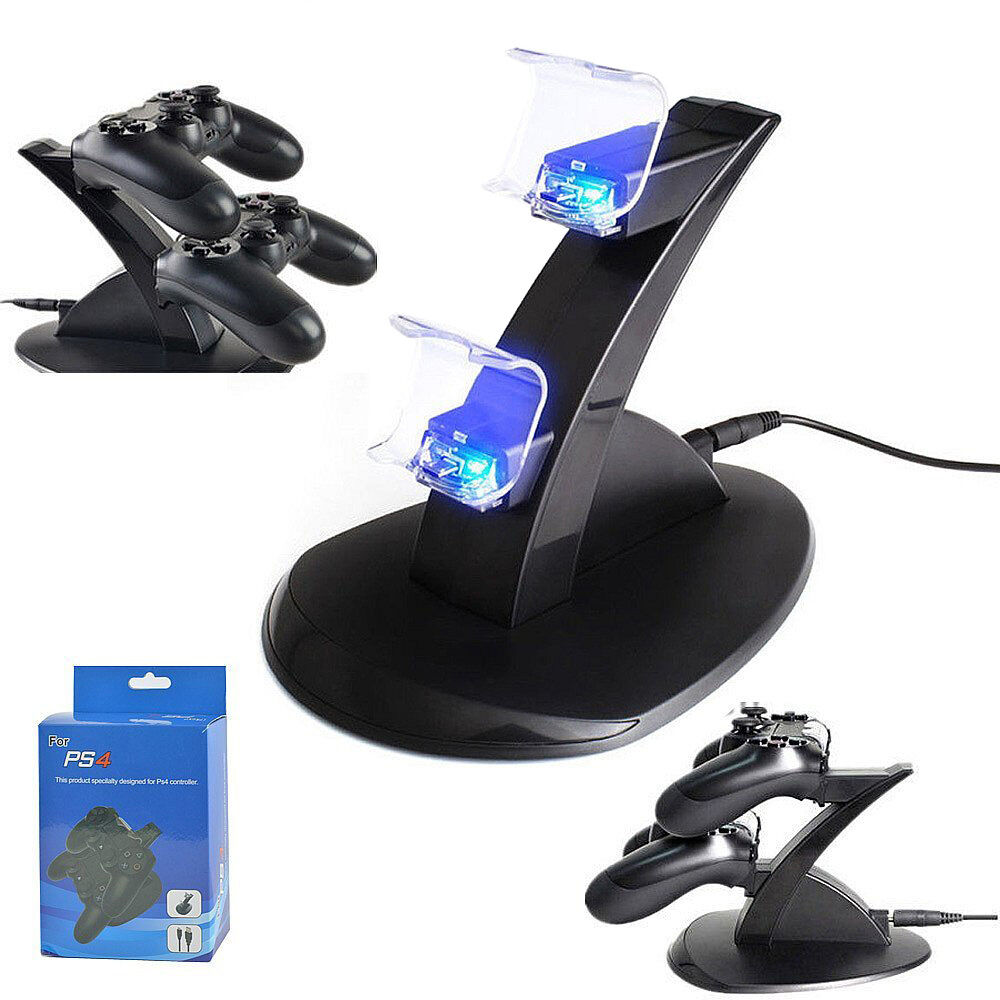 PlayStation PS4 Dual Controller LED Charger Dock Station ...