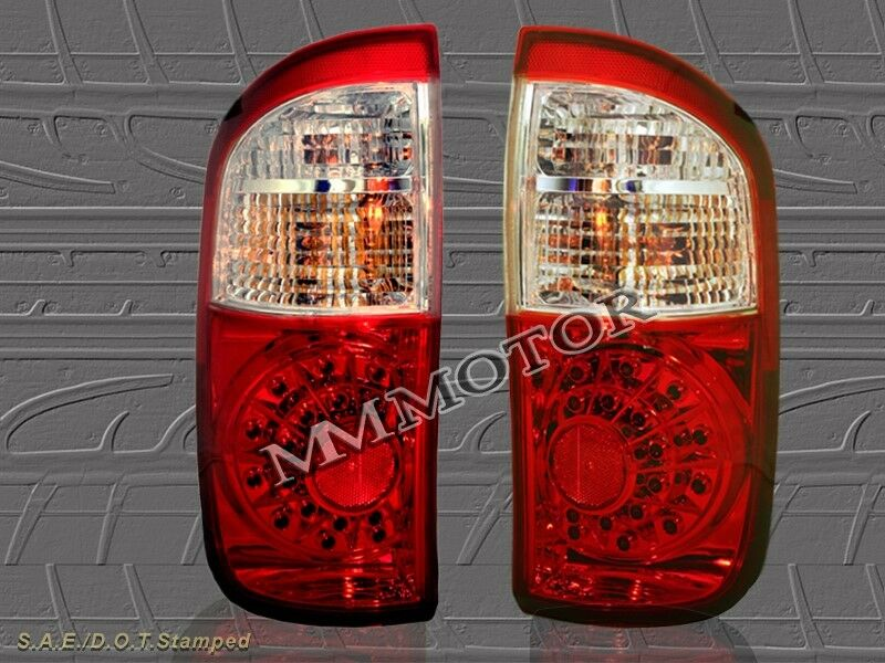 04 05 06 Toyota Tundra Double Cab Red Clear Led Tail