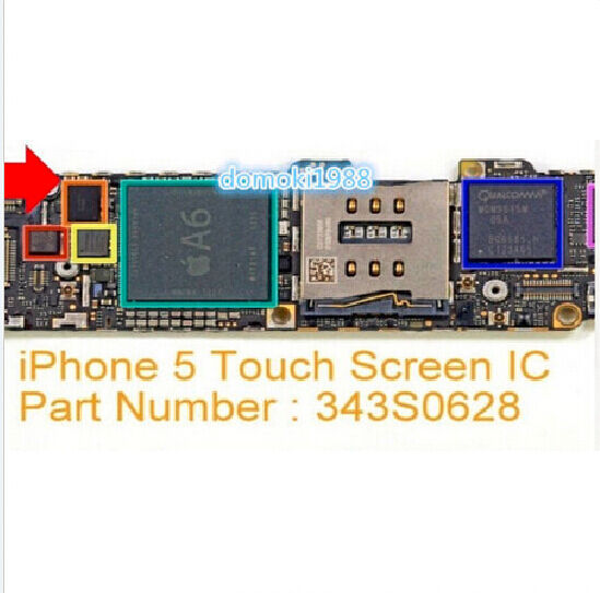 iphone 5s touch screen not working new touch screen ic digitizer controller repair part 19331