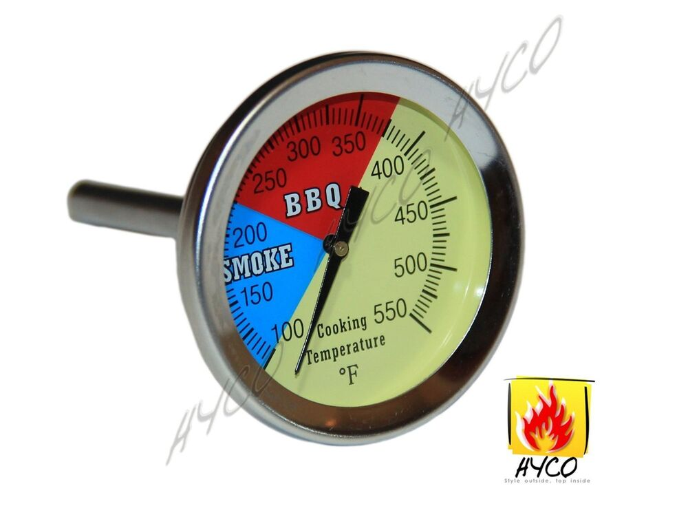 Hy2 Quot 550f Bbq Charcoal Grill Pit Wood Smoker Temp Gauge