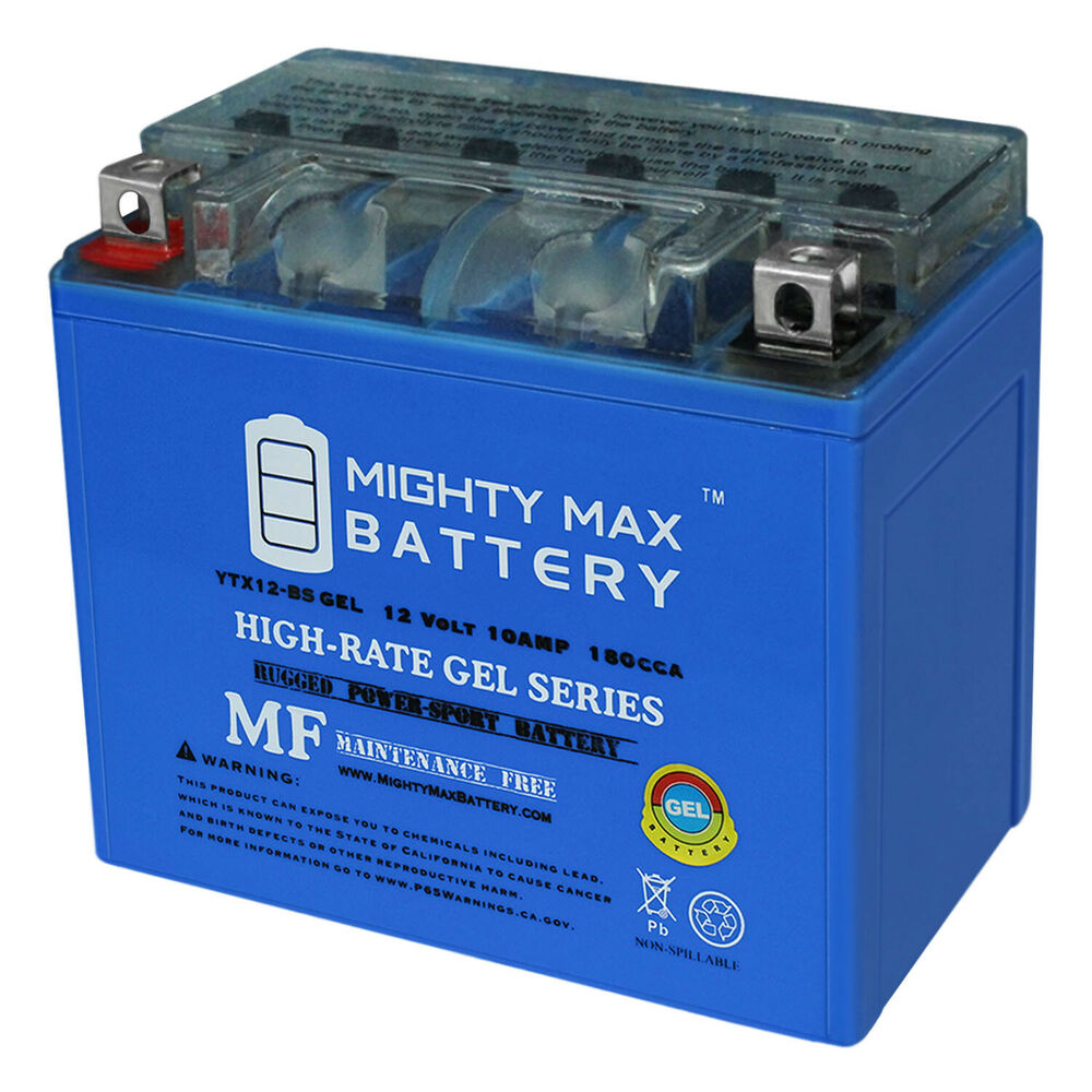 mighty max ytx12 bs 12v 10ah gel battery replacement. Black Bedroom Furniture Sets. Home Design Ideas