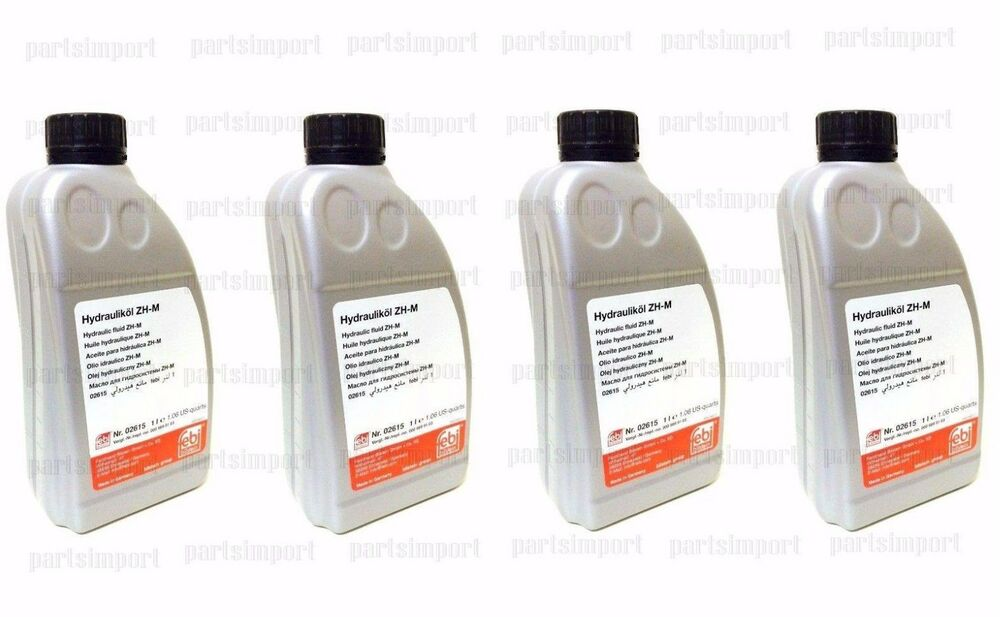 Mercedes hydraulic fluid 4l for convertible top pump for Mercedes benz hydraulic fluid