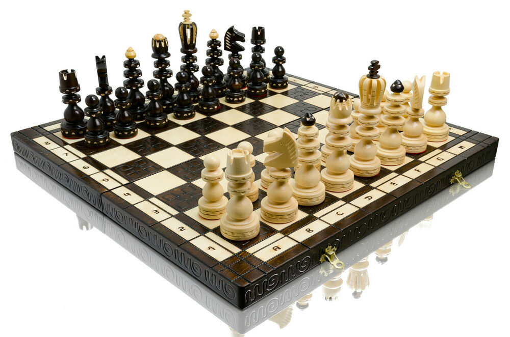 Amazing 39 39 roman 39 39 hand carved decorative wooden chess set 55x55cm ebay - Ornate chess sets ...