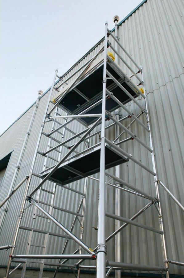 Aluminum Scaffold Tower : Used scaffold towers youngman boss aluminium
