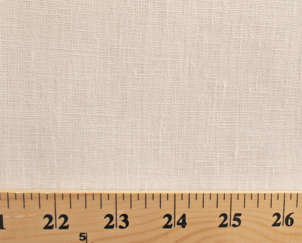 100 Linen Natural Solid 60 Inch Wide Fabric By The Yard