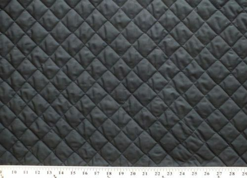 Double Faced Reversible Pre Quilted Black Polycotton