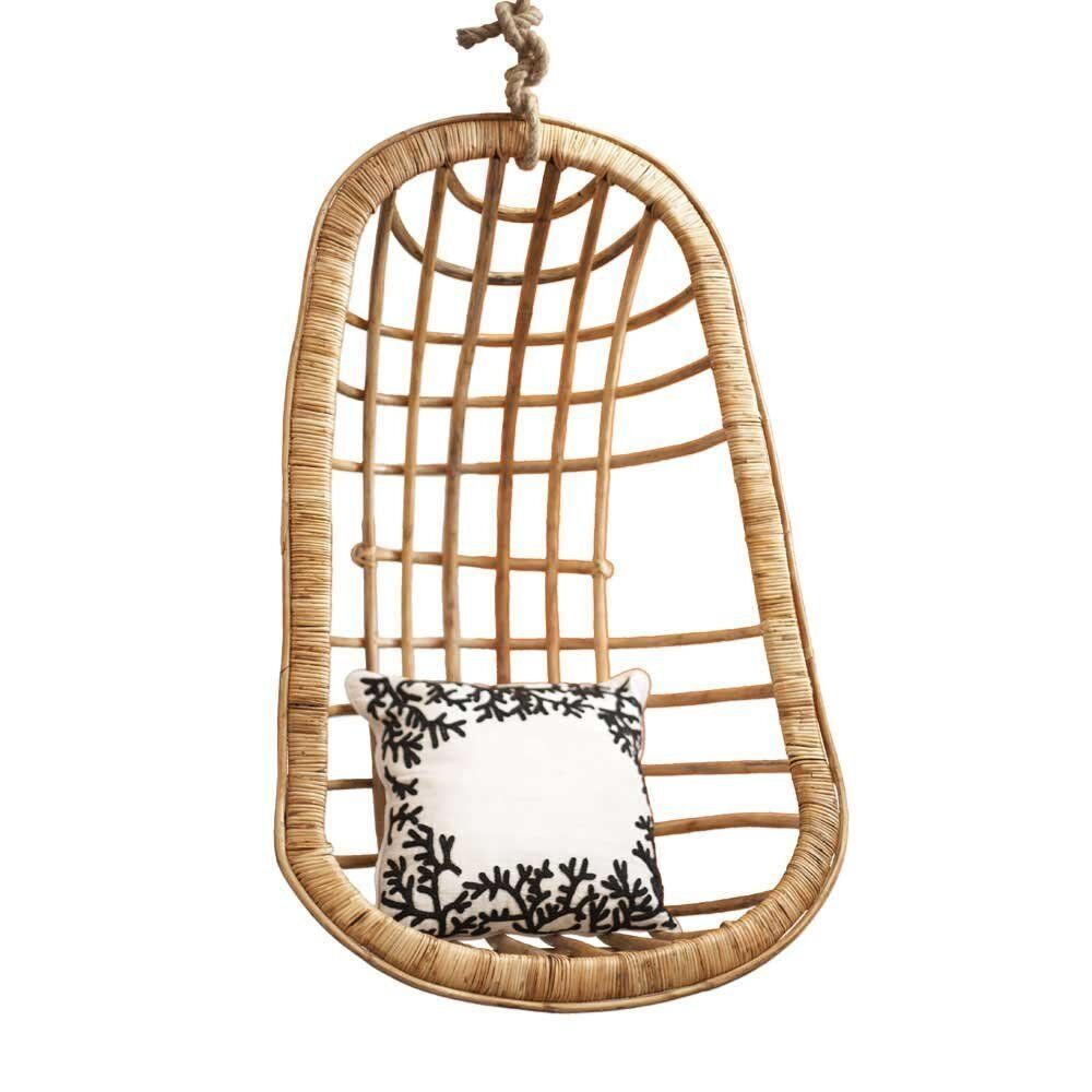 Two's Company Hanging Rattan Chair (includes hanging rope ...