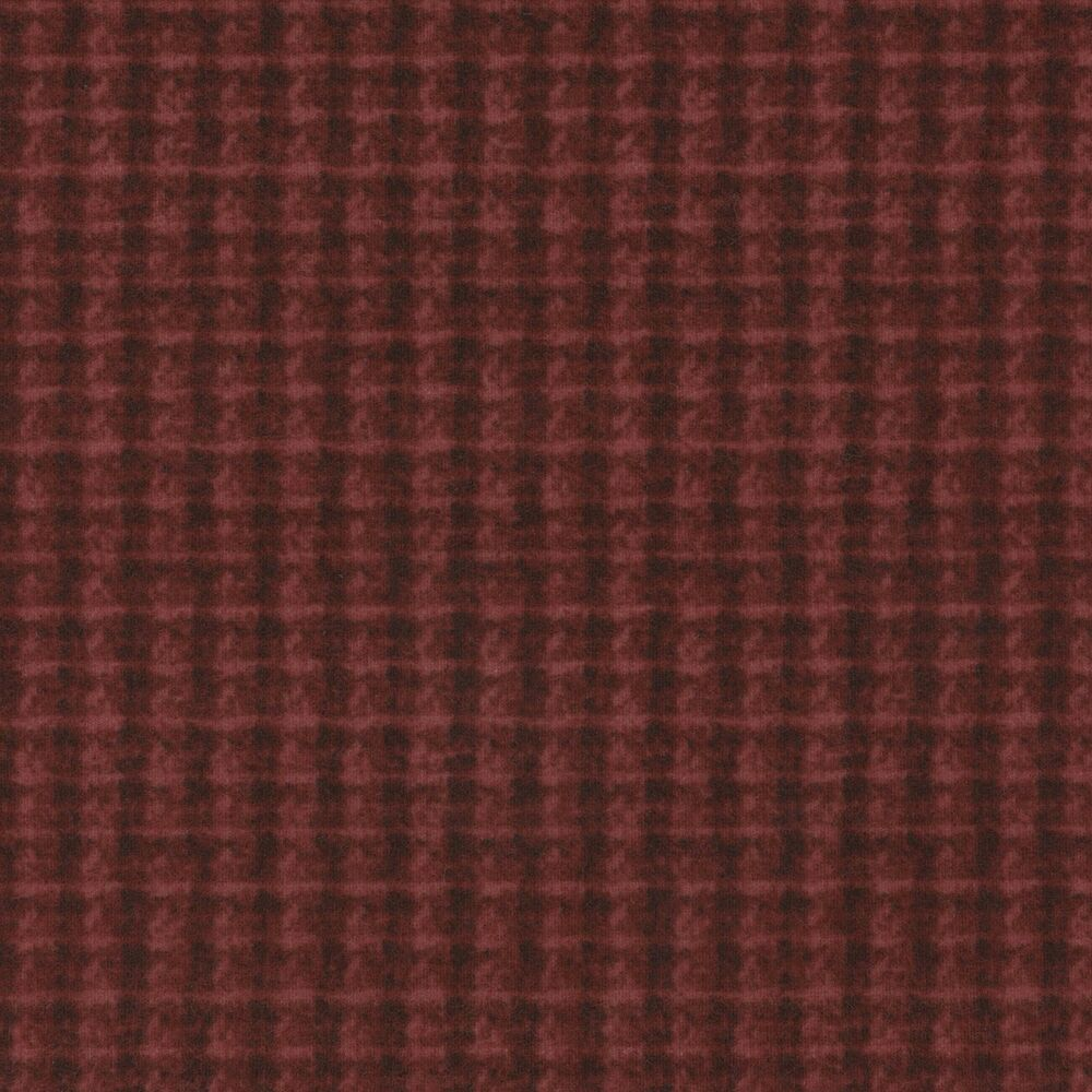 Maywood woolies double weave plaid red masf18504 r 100 for Flannel fabric
