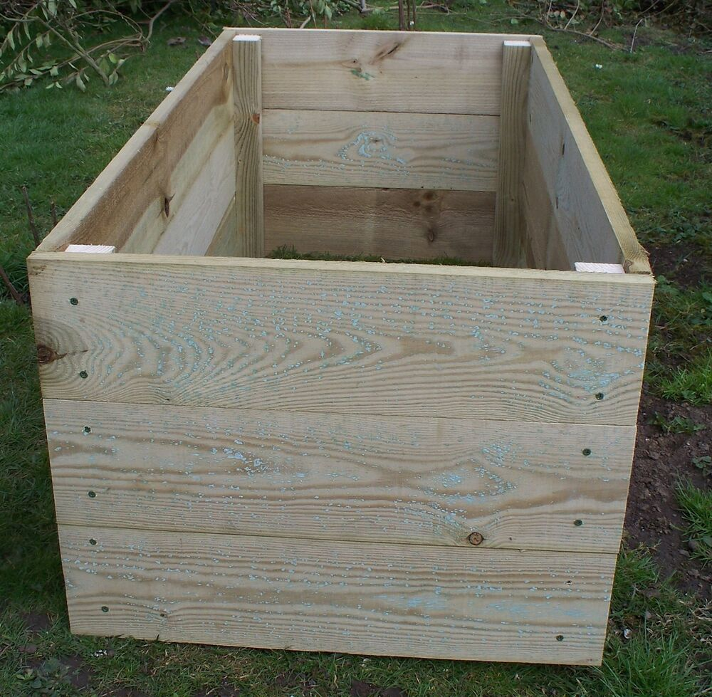Large Tanalised Wooden Vegetable Raised Beds 45cm High